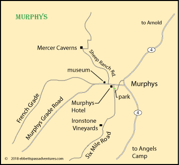 map of Murphys, CA