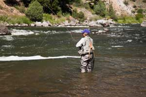fly fisherman in river